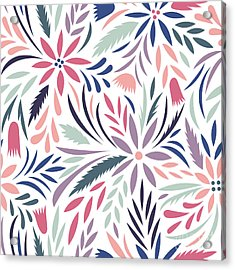 Seamless Floral Pattern. Vector Floral Acrylic Print