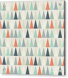 Seamless Geometric Pattern On Paper Acrylic Print