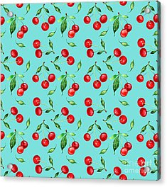 Seamless Pattern Of Cherry -1 Acrylic Print