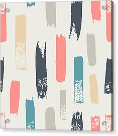 Seamless Pattern With Color Strokes Acrylic Print