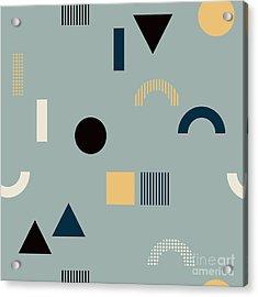 Seamless Pattern With Geometrical Acrylic Print