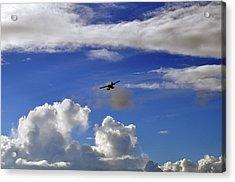 Seaplane Skyline Acrylic Print