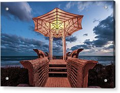 Seaside Pavilion On The Gulf Acrylic Print