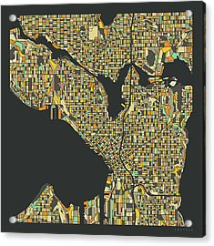 Seattle Map 2 Acrylic Print