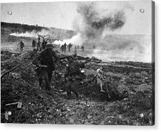Second Battle Of Villers-bretonneux Acrylic Print by Hulton Archive