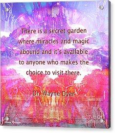 Acrylic Print featuring the digital art Secret Garden by Atousa Raissyan