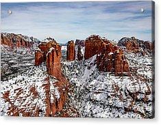 Sedona, Az Snow Acrylic Print