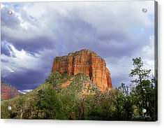 Acrylic Print featuring the digital art Devil's Mountain by Christopher Meade