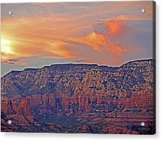 Acrylic Print featuring the mixed media Sedona Dusk 5 by Lynda Lehmann