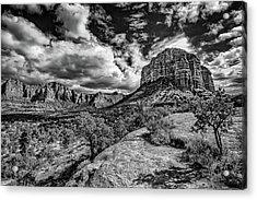 Sedona Landscape B And W Acrylic Print