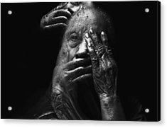 Acrylic Print featuring the digital art See No Evil Hear No Evil Speak No Evil by ISAW Company