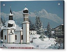 Seekirchl In Seefeld Acrylic Print by Slim Aarons