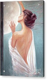 Selene Moon Goddess Acrylic Print