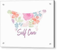 Acrylic Print featuring the mixed media Self Care- Art By Linda Woods by Linda Woods