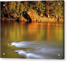 Selway River Acrylic Print by Leland D Howard