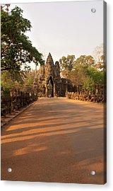 Semi-restored Gate At Angkor Thom Acrylic Print