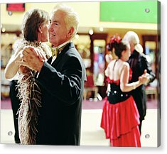 Senior And Mature Couples Dancing Acrylic Print by Jutta Klee