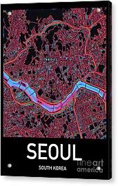 Seoul City Map Acrylic Print