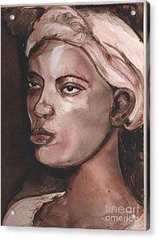 Sepia Woman Acrylic Print