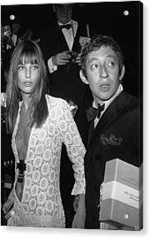Serge Gainsbourg And Jane Birkin Acrylic Print