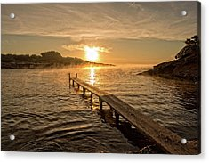 Sespanyol Beach In Ibiza At Sunrise, Balearic Islands Acrylic Print