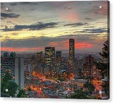 Setting Sun Over Bogotá Acrylic Print by Tobntno