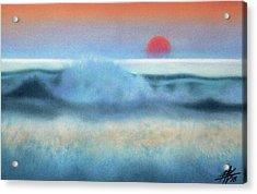 Setting Sun, Waves Of Glass Acrylic Print by Robin Street-Morris