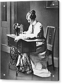 Sewing Machine Acrylic Print by Hulton Archive