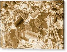 Sewn In Sepia Acrylic Print