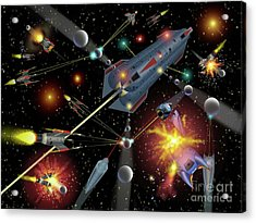Sferogyls Space Battle Group Acrylic Print
