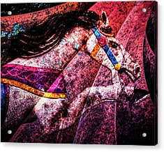 Acrylic Print featuring the photograph Shades Of Antique Carousel by Michael Arend