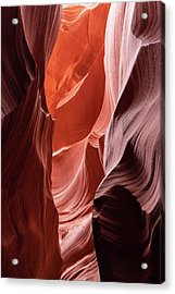 Shades Of Orange, Lower Antelope Canyon, Az Acrylic Print