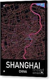 Shanghai City Map Acrylic Print