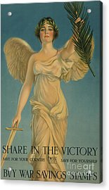 Share In The Victory, Buy War Savings Stamps, 1st World War Poster, 1918 Acrylic Print