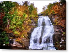 Acrylic Print featuring the photograph She-qua-ga - Montour Falls - Finger Lakes, New York by Lynn Bauer