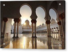 Sheikh Zayed Mosque In Abu Dhabi Acrylic Print