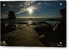 Shell Beach Sunburst Acrylic Print