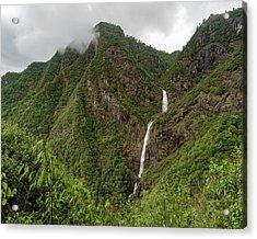 Shenlong Waterfall 8x10 Horizontal Acrylic Print