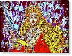Acrylic Print featuring the mixed media She - Ra by Al Matra
