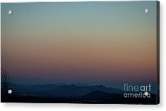 Sherbert Sunset Over The Blue Ridge Mountains Acrylic Print