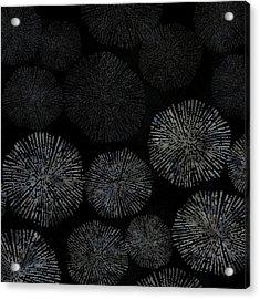 Shibori Sea Urchin Burst Pattern Acrylic Print