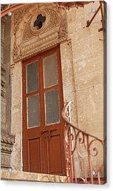 Shinde Chhatri Door Acrylic Print by Fran Riley