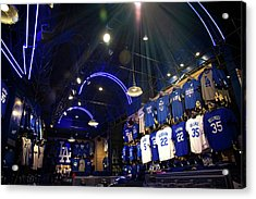 Acrylic Print featuring the photograph Shine On Dodger Blue by Lynn Bauer
