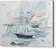Ship Sketch Acrylic Print