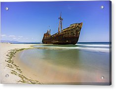 Shipwreck Dimitros Near Gythio, Greece Acrylic Print