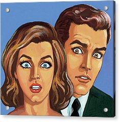 Shocked Couple Acrylic Print