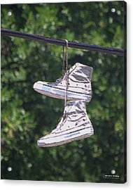 Acrylic Print featuring the digital art Shoefiti 72793dp by Brian Gryphon