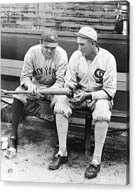 Shoeless Joe Jackson And Babe Ruth Acrylic Print by New York Daily News Archive