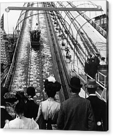 Shooting The Chutes Acrylic Print by Hulton Archive