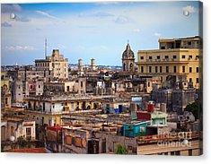 Shot Of Old Havana City, Cuba Acrylic Print